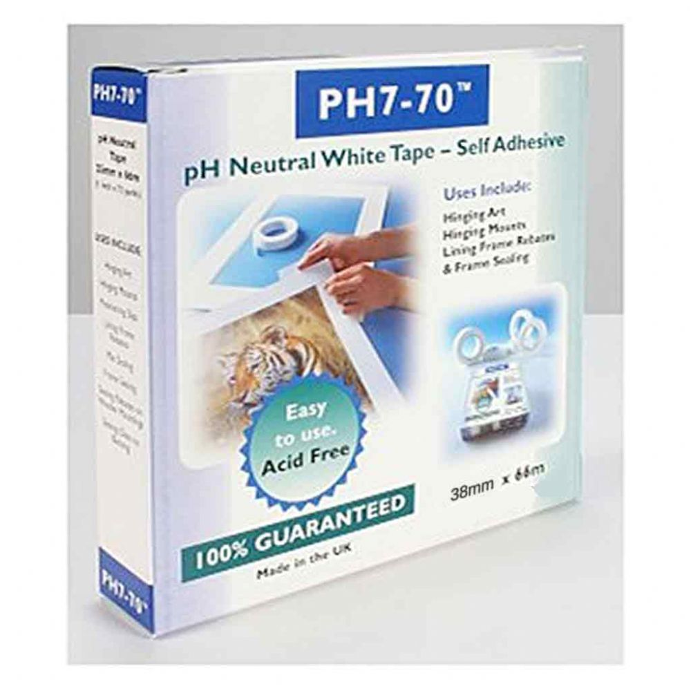 Self Adhesive pH7-70 Conservation Mounting and Hinging Tape 38mm x 66m (boxed)